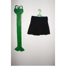 Černá plátěná skládaná sukně