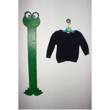 Modrý pletený svetr