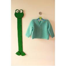 Ručně pletený svetr na knoflíky