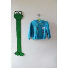 """Modro-zelená mikina s obrázky zn. """"Tots"""""""