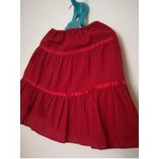 Červená plátěná sukně