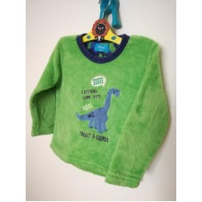 Zelená mikina dinosaur