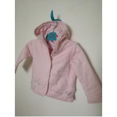 Růžový kabátek kojenecký
