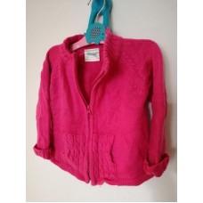 Dívčí růžový svetr