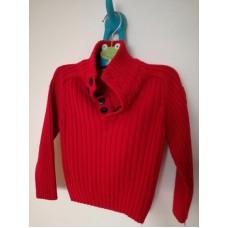 Červený rolák, velmi teplý svetr