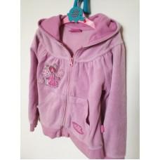 Růžová froté mikina