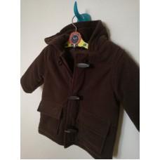 Hnědý kabát na zip