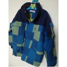 Zimní teplá bunda modrá
