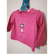 Růžové triko s dlouhým rukávem