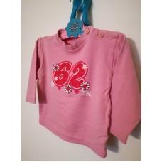 Bavlněné triko s dlouhým rukávem růžové