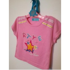 Růžové triko s krátkým rukávem