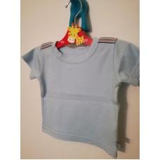 Světle modré bavlněné triko