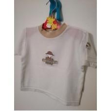 Bílé triko s knoflíky vzadu u krku