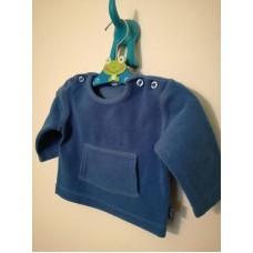 Tmavě modré triko, mikina sametek