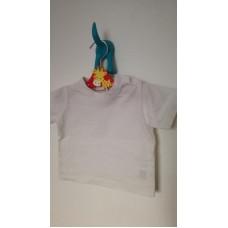 Bílé bavlněné triko s krátkým rukávem