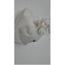 Čepice bílá obv.44 cm, vel.6-12 měsíců