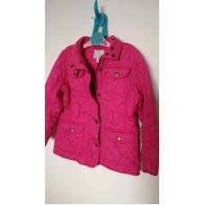 Bunda, kabátek prošívaná, růžová