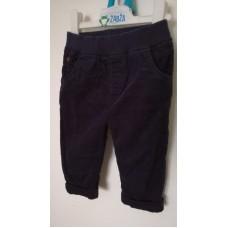 Tmavé manžestrové kalhoty, vyteplené