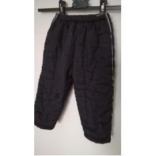 Černé zateplené kalhoty v pase na gumu