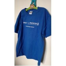 Modré triko s krátkým rukávem