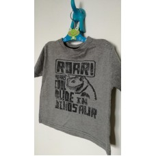 Šedé triko s dinosaurem