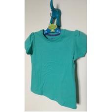 Tyrkysové dívčí triko s krátkým rukávem