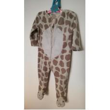 Fleecový overal žirafa