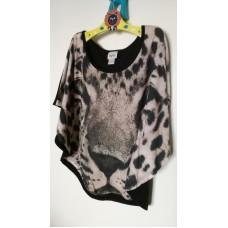 Rozevláté triko s gepardem