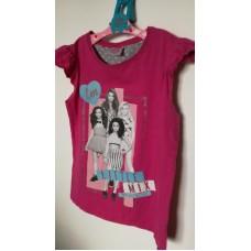 Růžové dívčí triko s krátkým rukávem