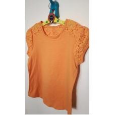 Oranžové tričko s krajkou