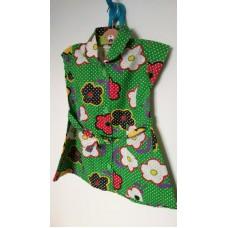 Šaty zelené květované