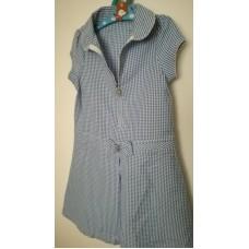 Šaty modré kostkaté vel 122