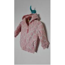 Růžová žirafa mikina