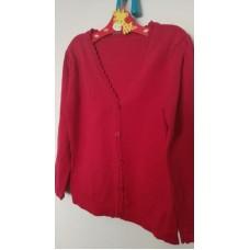 Červený svetr na knoflíky GEORGE