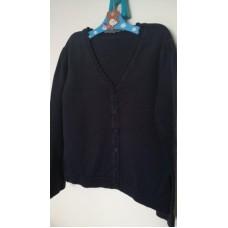 Tmavěmodrý svetr na knoflíky GEORGE