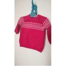 Růžový úpletový svetr