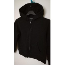 Černá mikina na zip s kapucí