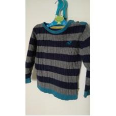 Šedo-modrý svetr