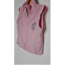 Růžová vesta fleesová