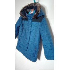 Modrá zimní bunda