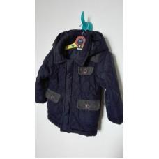 Tmavě modrá prošíváná bunda