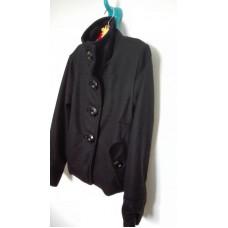 Černý flaušový kabát