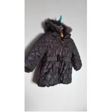 Černá prošívaná zimní bunda, kabátek (spíše tmavošedá)