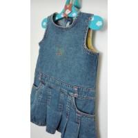 Riflová sukně-šaty