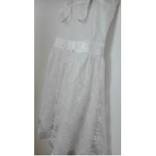 Šaty sváteční, krajkové bílé