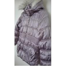 Zimní prošívaná bunda fialková (7-8 roků) vel.128
