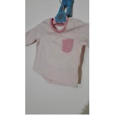 Tričko s dlouhým rukávem slabší (0-1měs.)