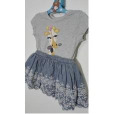 Šatičky  2v1  tričko-sukně (9-12měs.)