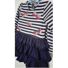 Šaty bavlněné s dlouhým rukávem (2-3r.)
