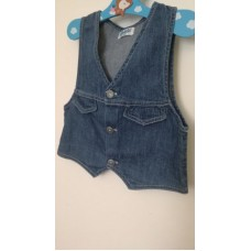 Jeansová vesta (4-5r.)